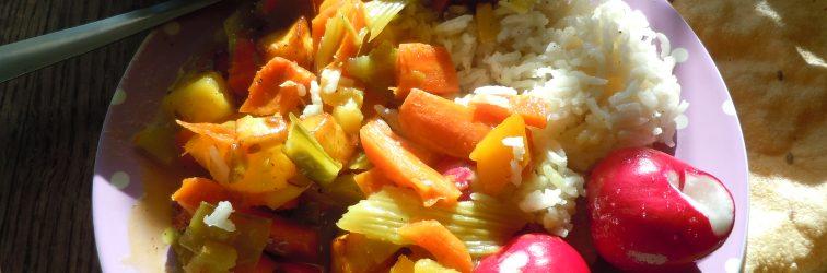 Dinner tonight-Fresh picked ingredients from gardens
